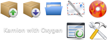 Kamion with Oxygen Icons